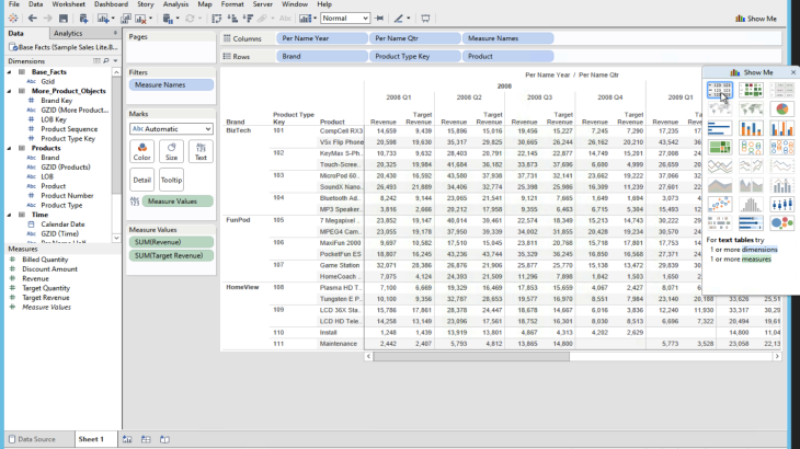 Blend OBIEE Subject Areas using Tableau