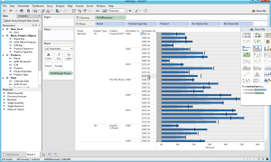 BI connector - Bar chart visualization of OBIEE data in Tableau