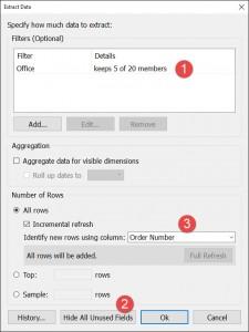 BI connector - Extract data window