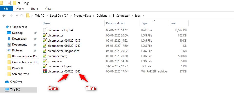 Log File Name Format