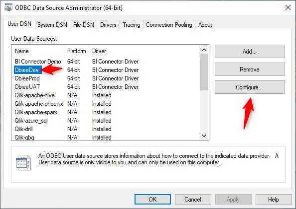 Select Dev DSN