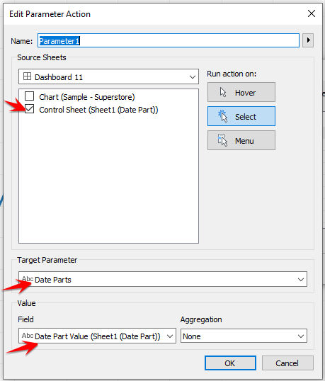 Edit Parameter Action