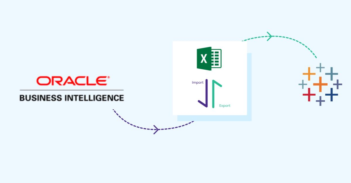 Excel Export Import from OBIEE to Tableau