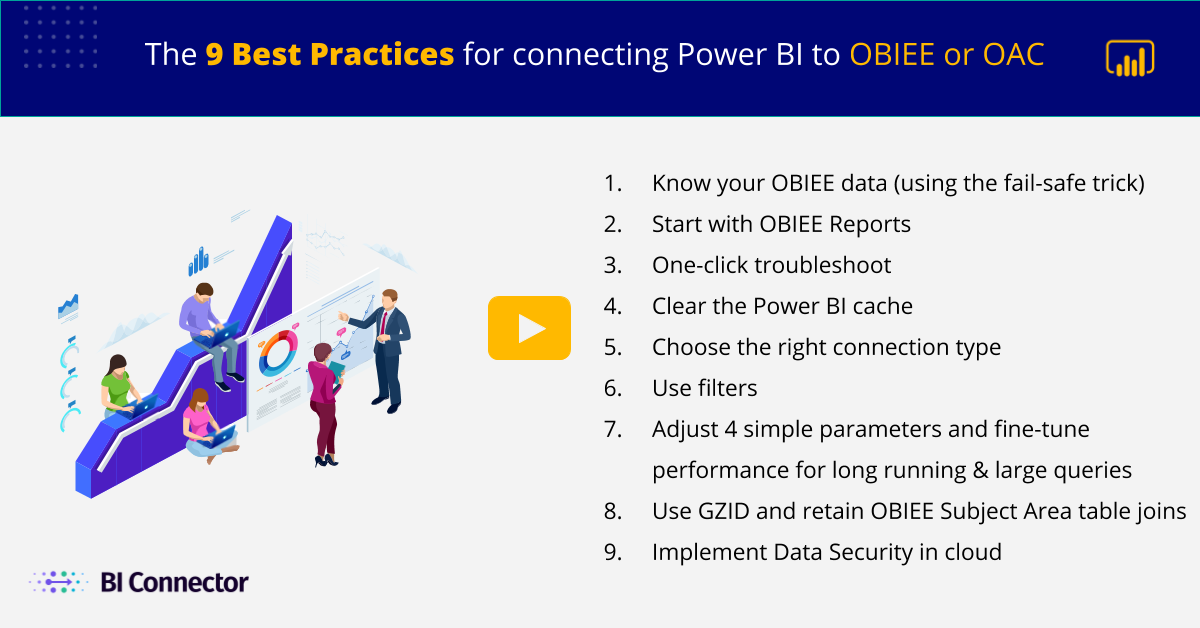 9 Best Practices list connecting Power BI to OBIEE and OAC