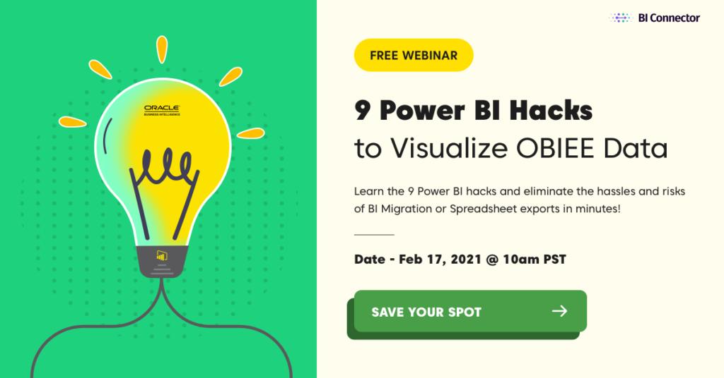 Power BI hacks to visualize OBIEE OAC OAS data