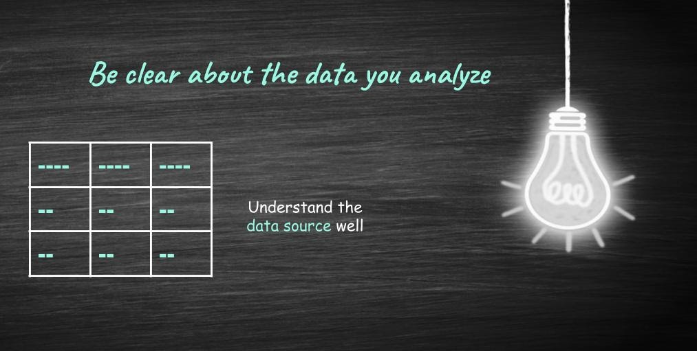 understand the data source