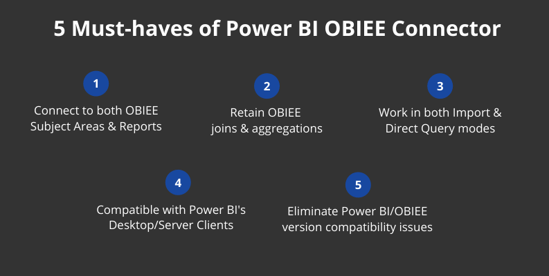 5 must-haves of Power BI OBIEE connectors