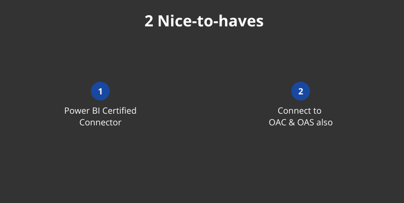 2 nice-to-haves of power bi obiee connectors